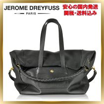 Jerome Dreyfuss A4 2WAY Plain Leather Elegant Style Totes