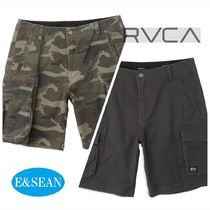 RVCA Camouflage Street Style Plain Cargo Shorts