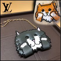 Louis Vuitton Unisex Chain Other Animal Patterns Leather Card Holders