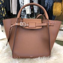 CELINE Calfskin 2WAY Plain Totes