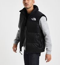 THE NORTH FACE WHITE LABEL Fur Street Style Plain Logo Down Jackets