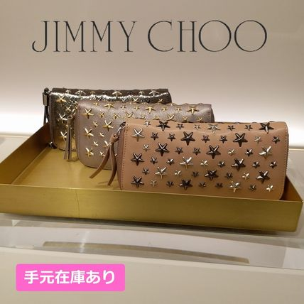 Unisex Studded Leather Long Wallets