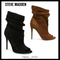 Steve Madden Open Toe Suede Pin Heels Elegant Style Ankle & Booties Boots