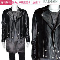 BALMAIN Leather Biker Jackets
