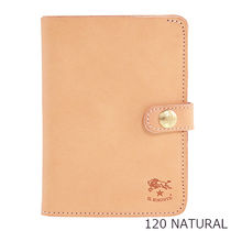 IL BISONTE Plain Leather Folding Wallets