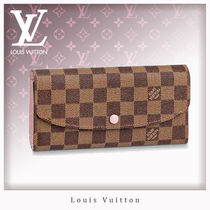Louis Vuitton PORTEFEUILLE EMILIE Canvas Studded Long Wallets