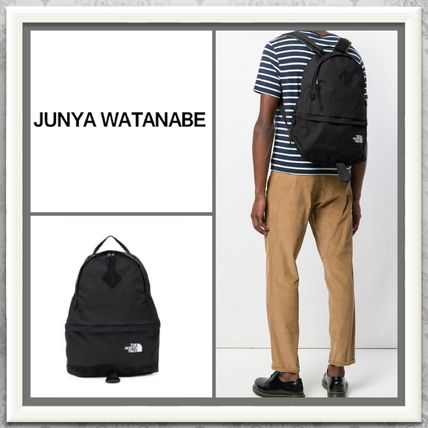 Unisex Nylon A4 2WAY Plain Backpacks