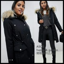ASOS Casual Style Faux Fur Street Style Medium Parkas