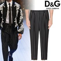 Dolce & Gabbana Tapered Pants Other Check Patterns Wool Oversized