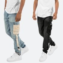 MNML Unisex Denim Plain Oversized Joggers Jeans & Denim
