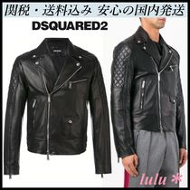 D SQUARED2 Plain Leather Biker Jackets