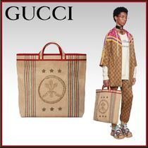 GUCCI Flower Patterns Unisex A4 Totes