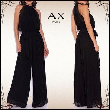 Dungarees Sleeveless Halter Neck Long Party Style Dresses