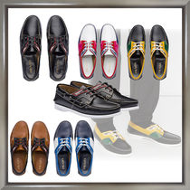 PRADA Leather Deck Shoes Handmade Loafers & Slip-ons
