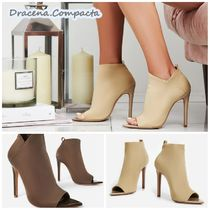 EGO Open Toe Casual Style Plain Pin Heels Ankle & Booties Boots