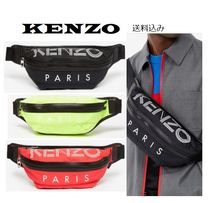 KENZO Unisex Nylon Street Style Bi-color Messenger & Shoulder Bags