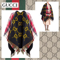 GUCCI Other Check Patterns Wool Medium Ponchos & Capes