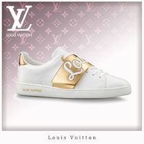 Louis Vuitton Rubber Sole Casual Style Bi-color Leather Low-Top Sneakers