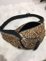 CHROME HEARTS Leopard Patterns Unisex Blended Fabrics Leather Handmade