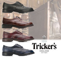 Tricker's Wing Tip Plain Leather Oxfords