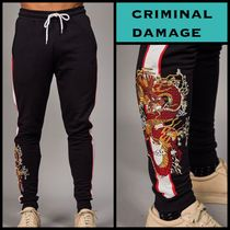 CRIMINAL DAMAGE Street Style Plain Joggers & Sweatpants
