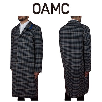 Other Check Patterns Long Chester Coats