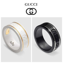 GUCCI Blended Fabrics 18K Gold Rings