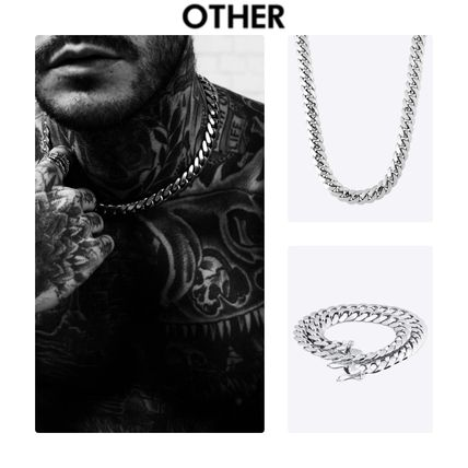 Unisex Street Style Chain Plain Necklaces & Chokers