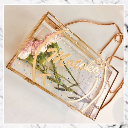 Heart Star Handmade Crystal Clear Bags Clutches