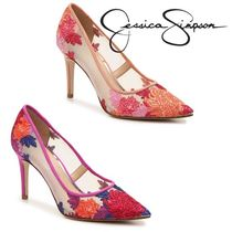 Jessica Simpson Flower Patterns Pin Heels Elegant Style
