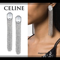 CELINE Party Style Brass With Jewels Earrings