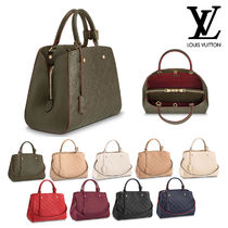 Louis Vuitton MONTAIGNE Casual Style 2WAY Leather Handbags