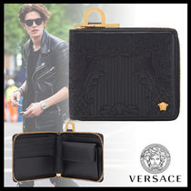 VERSACE Street Style Plain Folding Wallets