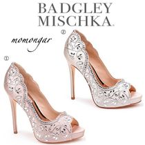 Badgley Mischka Open Toe Pin Heels Party Style Stiletto Pumps & Mules