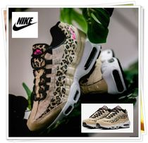 Nike AIR MAX 95 Leopard Patterns Casual Style Unisex Low-Top Sneakers