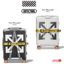 Off-White Unisex Street Style Collaboration Carry-on