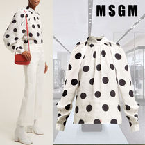 MSGM Dots Long Sleeves Shirts & Blouses