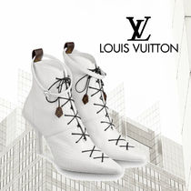 Louis Vuitton Pin Heels Python Ankle & Booties Boots