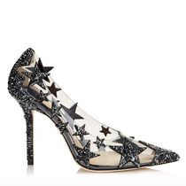 Star Pin Heels PVC Clothing With Jewels Elegant Style
