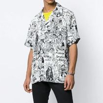 Dolce & Gabbana Street Style Short Sleeves Oversized Shirts