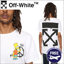Off-White Street Style Collaboration Short Sleeves T-Shirts