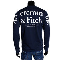 Abercrombie & Fitch Crew Neck Long Sleeves Cotton Long Sleeve T-Shirts