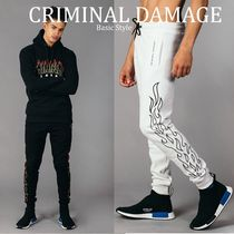 CRIMINAL DAMAGE Street Style Plain Cotton Joggers & Sweatpants