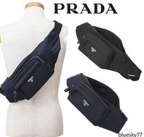 PRADA Plain Leather Messenger & Shoulder Bags