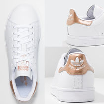 adidas STAN SMITH Stripes Round Toe Casual Style Unisex Leather