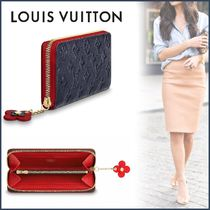 Louis Vuitton CLEMENCE Monogram Blended Fabrics Studded Bi-color Leather
