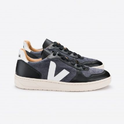 Rubber Sole Lace-up Casual Style Unisex Street Style Plain