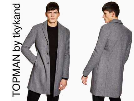 Other Check Patterns Wool Chester Coats