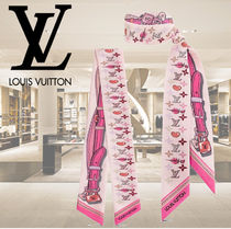 Louis Vuitton MONOGRAM Monogram Silk Fringes Elegant Style Accessories