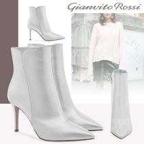 Gianvito Rossi Leather Pin Heels Elegant Style High Heel Boots